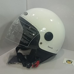 Casco Jet JY803 Smooth Blanco