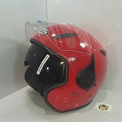 Casco Jet SB18 Rojo