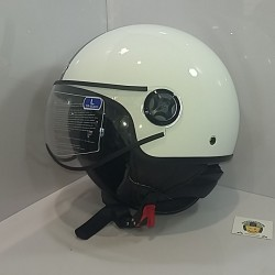 Casco Jet SB23 Blanco deco...