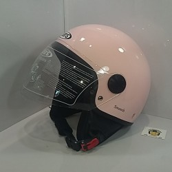 Casco Jet JY803 Smooth Rosa
