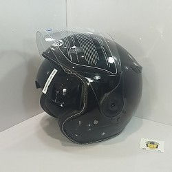 Casco Jet SB18 Negro Brillo