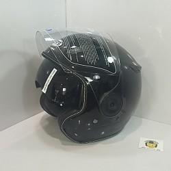 Casco Jet SB18 Negro Brillo